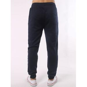 Stripe Paneled Eyelet Drawstring Jogger Pants - CADETBLUE 5XL