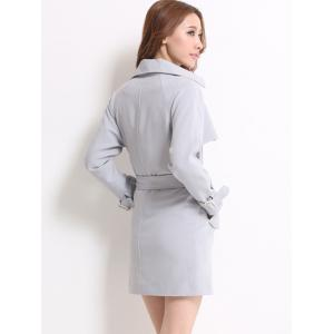 Wrap Fitting Trench Coat -