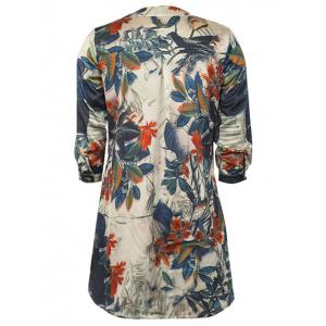 3/4 Sleeve Chinese Painting Loose Dress -