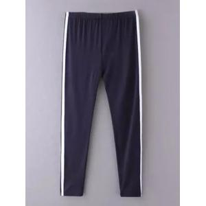 Skinny Side Stripe Running Pants - CADETBLUE ONE SIZE