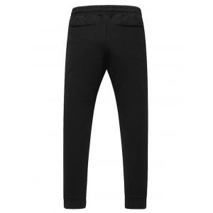 Lace-Up Zippers Embellished Beem Feet Jogger Pants -