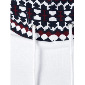 Tribal Pattern Big Pocket Hoodie -