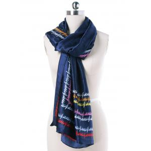 Autumn Scrawl Letters Scarf -