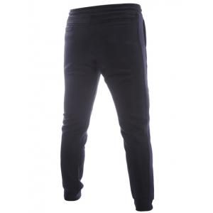 Beading Lace-Up Color Block Spliced Jogger Pants -