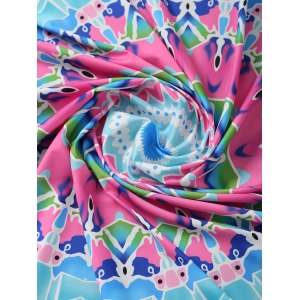 Geometric Print Round Beach Throw - LAKE BLUE ONE SIZE