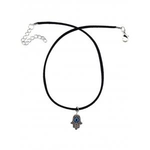 Engrave Hand Eye Choker Necklace -
