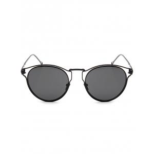Hipsters Hollow Out Arrow Oval Sunglasses -