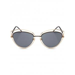 Hipsters Hollow Out Double Cat Eye Sunglasses -