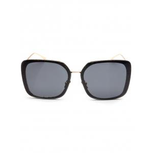 Hipsters Faux Jade Carve Leg Irregular Square Sunglasses -