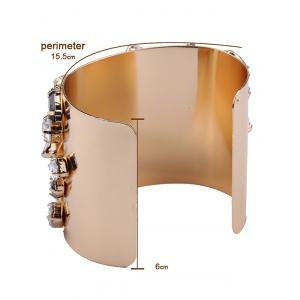 Curved Artificial Gem Cuff Bracelet -