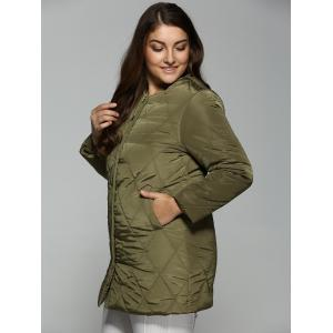 Plus Size Topstitched Pocket Design Coat -