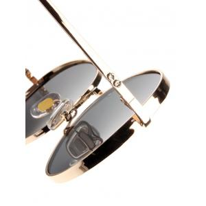 Hipsters Chunky Metal Oval Sunglasses -