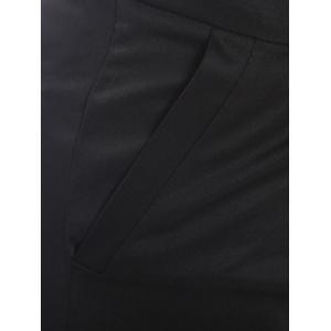 Zipper Fly Slimming Narrow Feet Pencil Pants - BLACK 2XL