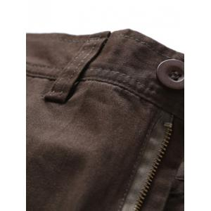 Simple Zipper Fly Pockets Cargo Pants -