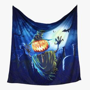 Halloween Pumpkin Bat Pattern Big Square Scarf -