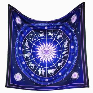 Constellation Pattern Big Square Bandana Scarf -