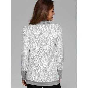 Cowl Neck Lace Blouse -