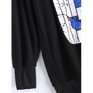 Number Print Loose-Fitting Sweatshirt -