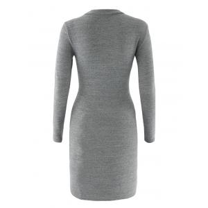 Bodycon Long Sleeve Round Neck Dress -