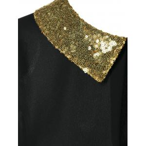 Sequined Flat Collar Blouse -