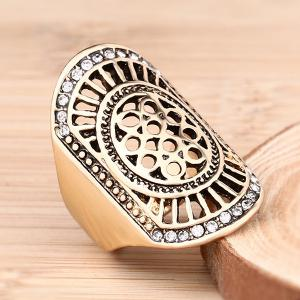 Vintage Rhinestone Hollowed Ring -
