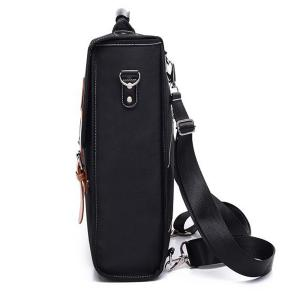 Color Spliced Double Buckle Nylon Backpack -