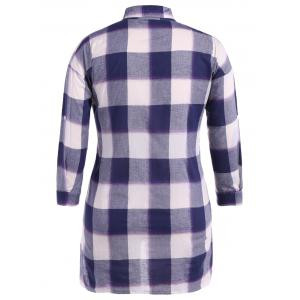 Asymmetrical Plaid Loose-Fitting Shirt -