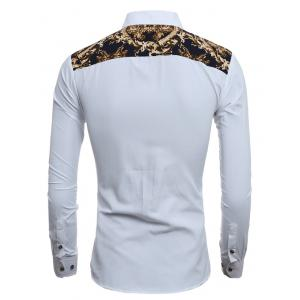 Slim-Fit Digital Print Shirt - WHITE 2XL
