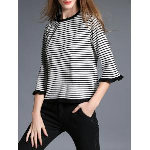 Butterfly Sleeve Striped Knitwear -