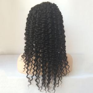 Long Kinky Curly Lace Front Human Hair Wig -