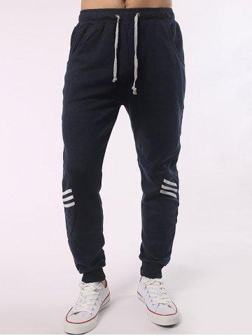 Shop Stripe Paneled Eyelet Drawstring Jogger Pants