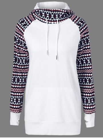 Chic Tribal Pattern Big Pocket Hoodie