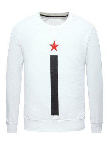 Shops Long Sleeve 3D Star Printed Sweatshirt