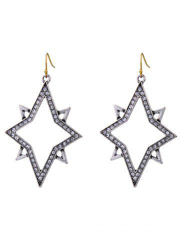 Buy Rhinestone Star Drop Earrings