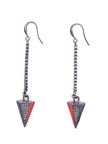 Shops Pyramid Rhinestone Dangle Drop Earrings