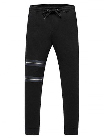 Cheap Lace-Up Zippers Embellished Beem Feet Jogger Pants