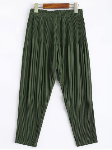 Chic Stretchy Pleated Harem Pants