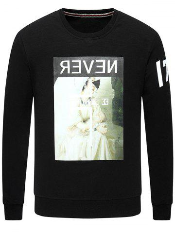 Sale Graphic Print Long Sleeve Crew Neck Sweatshirt