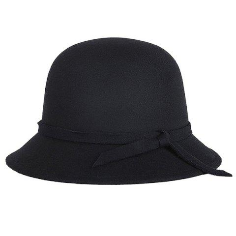 Discount Winter Long Band Faux Wool Fedora Hat