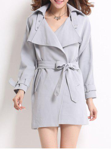 Fancy Wrap Fitting Trench Coat