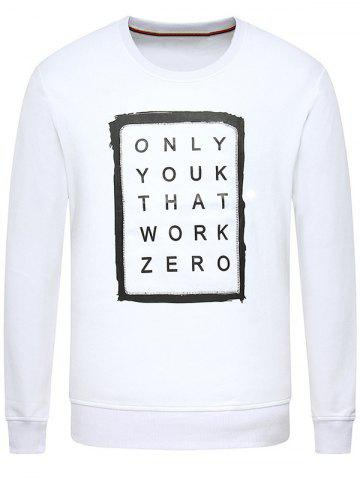 Outfit Letters Printing Long Sleeve Sweatshirt