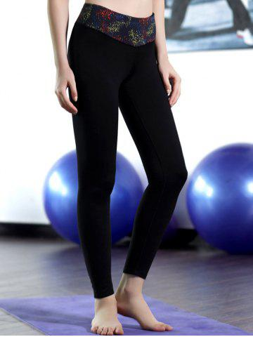 Trendy Patched Stretchy Sport Leggings