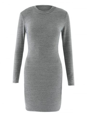 Outfits Bodycon Long Sleeve Round Neck Dress
