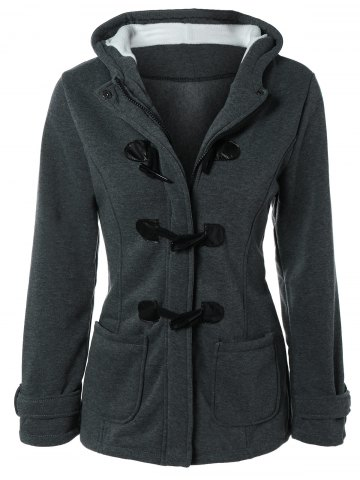 Trendy Hooded Duffle Coat
