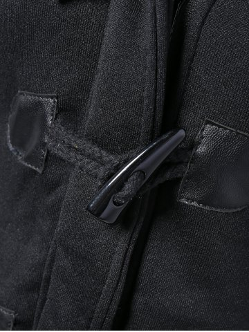 Outfit Hooded Duffle Coat - XL BLACK Mobile