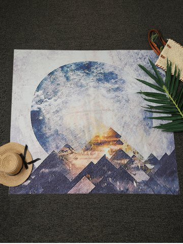 Online Printed Square Beach Throw