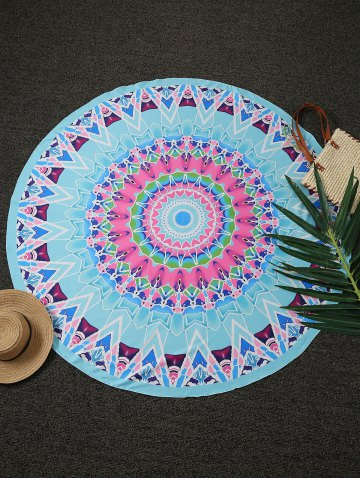 Latest Geometric Print Round Beach Throw LAKE BLUE ONE SIZE