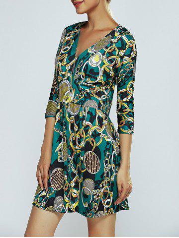 Fancy Chain Print A-Line Dress