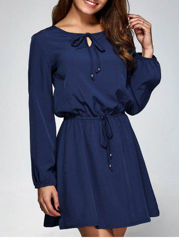 Outfit Long Sleeve A-Line Dress PURPLISH BLUE 2XL