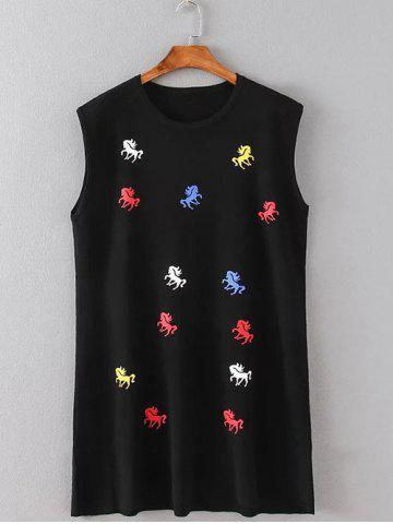 Fashion Pony Embroidered Mini Tank Dress
